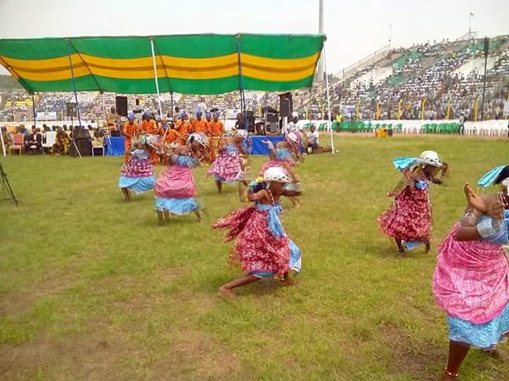 Prestation chorégraphique, festivités de la campagne électorale au Bénin