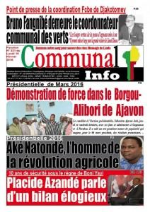 Le candidat Adjavon en démonstration de force politique.