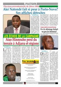 Les candidats Aké Natondé et Atao Hinnouho: Deux jeunes dans la course pour la Marina