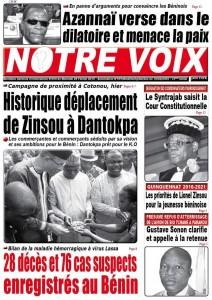 Le candidat Lionel Zinsou en marcheting politique dans le grand marché international de Dantokpa