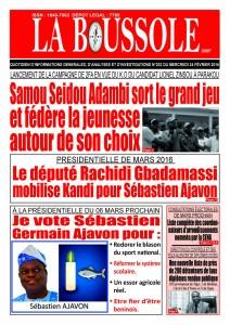 Le candidat Adjavon Sébasttien avec son lieutenant He Rachidi Gbadamassi, mobilisent l'attention de la presse