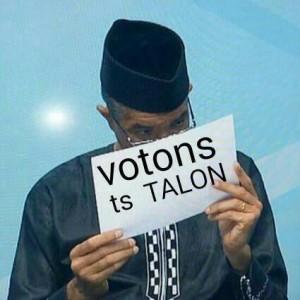 Le candidat Zinsou fait campagne pour Talon: Pur montage