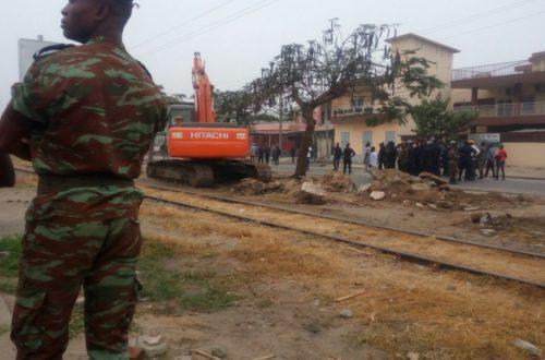 Article : Le déguerpissement des espaces publiques  a commencé à Cotonou.